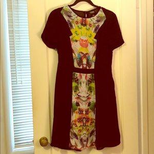 Prabal Gurung for Target black and floral dress